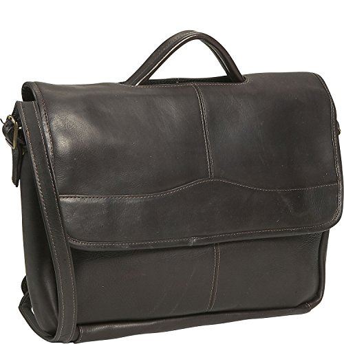 David King & Co Leather Porthole Briefcase in Cafe
