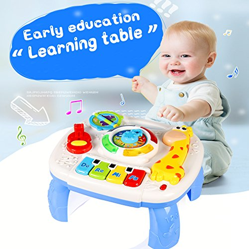 Baby Toys Musical Learning Table Early Education Music Activity Center Multiple Modes Game (Music Activity)