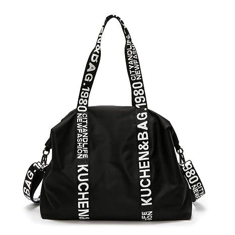 Amazon.com: CLHFJ Nylon Waterproof Sports Gym Bag Women Men ...