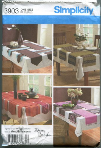 Sewing Table Runner - Simplicity Sewing Pattern 3903 One Size Table Runners in Four Styles