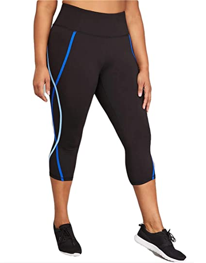 d4dfb7100dd2b Image Unavailable. Image not available for. Color  Lane Bryant Wicking  Active Capri Leggings Colorblock (14 16)