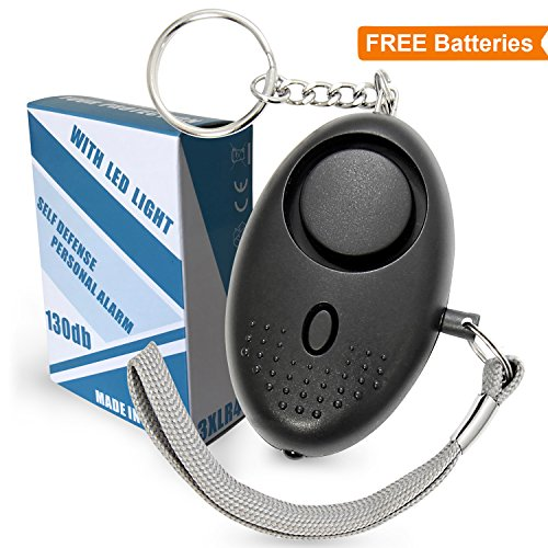 Animal House Siren - Personal Alarm Keychain | 130dB Emergency Self-Defense Security for Women, Elderly, Kids | Safe Sound with Mini LED Light for Walking, Hiking (Black) by S'Care