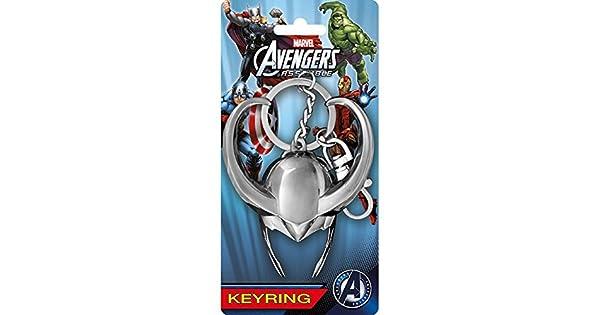Amazon.com: Marvel Comics (Thor) Loki casco estaño Llavero ...