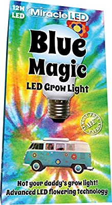 Miracle LED 602025 Blue Magic LED Grow Light 12W Replacing Old 150W Incandescent Floods,
