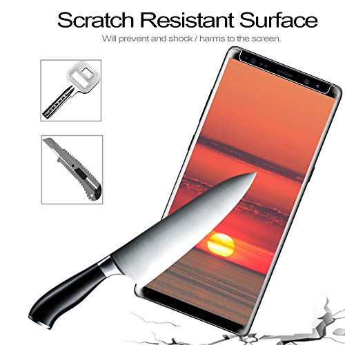 [2Pack] Galaxy Note 8 Screen Protector, 3D Full Screen Coverage Glass [Curved] [Bubble-Free] [9H Hardness] [Anti-Scratch] Clear Galaxy Note 8 Tempered Glass Screen Protectors for Samsung Galaxy Note 8 by AsianiCandy (Image #5)