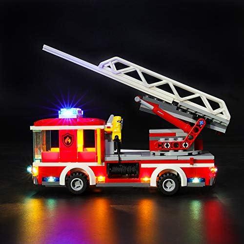 LIGHTAILING Conjunto de Luces (City Camión de Bomberos con Escalera) Modelo de Construcción de Bloques - Kit de luz LED Compatible con Lego 60107 (NO Incluido en el Modelo): Amazon.es: Juguetes y
