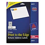 Avery 6870 Color-Printing Return Address Labels, 3/4 x 2-1/4, White, 750/PK