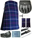 Mens Heritage of Scotland Tartan 7 Piece Casual Kilt Outfit Size: 34'' - 36''