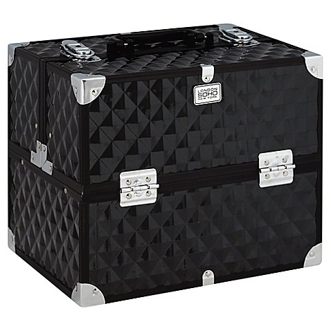 1 pack of Digital Diamond Pro Train Case in Black by SOHO (Soho Digital Diamond Large Black Beauty Case)
