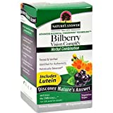 Natures Answer Bilberry Vision Complex Plus Lutein - 60 Vegetarian Capsules - pack of - 8