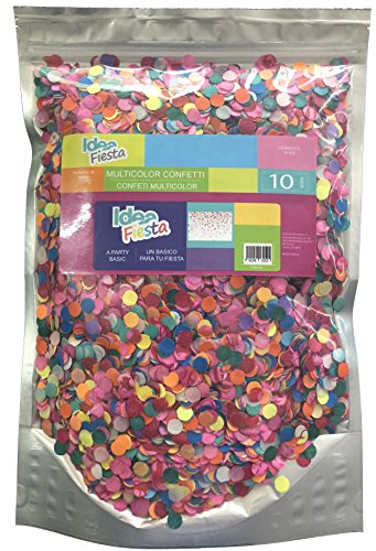 Multicolor Confetti Toss - 10 Oz. of Paper Confetti in a Stand Pouch Bag - Mexican Confetti - for All Kind of Celebrations and Parties