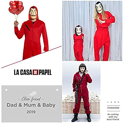 XCR 2pcs Kit de Disfraz de Ladrón, Salvador Dalí Traje de Cosplay ...