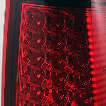 For 99-02 Chevy Silverado 09-03 GMC Sierra Pickup Truck Red Clear G2 LED Tail Lights Brake Lamps Pair