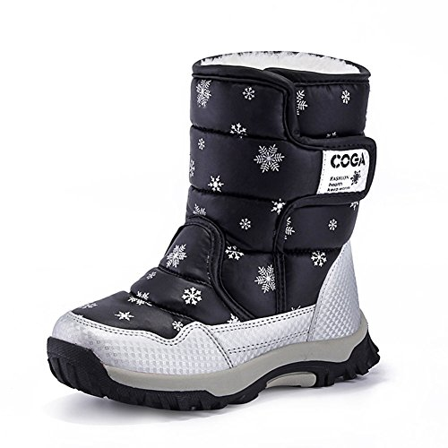 CIOR FANTINY Toddler Winter Snow Boots For Boy and Girl Outdoor Waterproof With Fur Lined