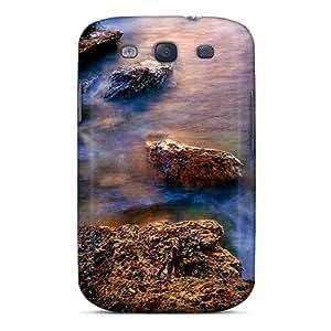 Hard Plastic Galaxy S3 Case Back Cover,hot Rocky Seashore Scotland U K Case At Perfect Diy
