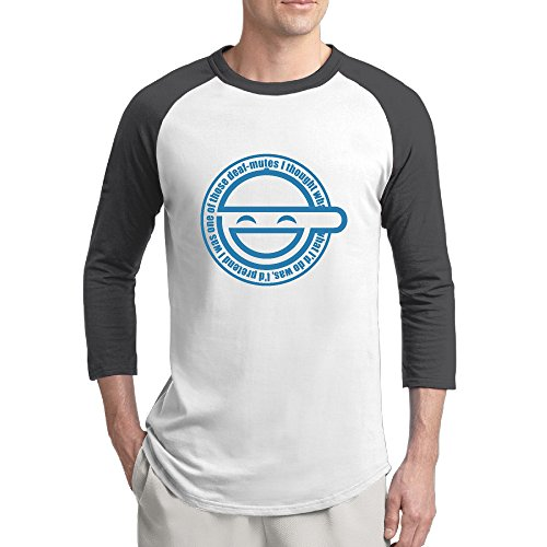 Laughing T-shirt Man - Men The Laughing Man Ghost In The Shell Baseball Raglan T-shirt