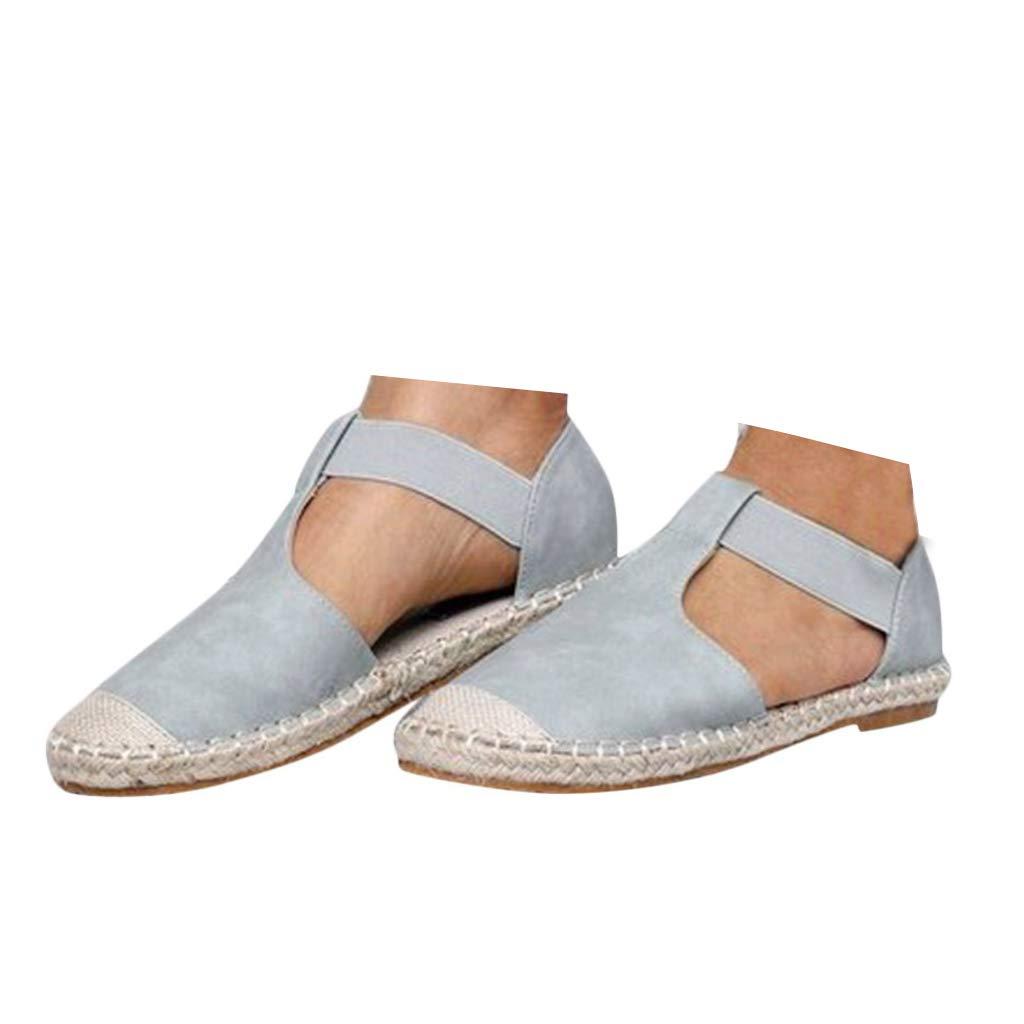 f9b2bdd0dcf1b Vedhika Women Low Flat Sandals Retro Round Toe Casual Roman Shoes ...
