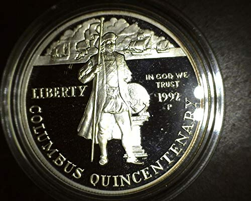 1992 P Columbus Quincentenary Commemorative Proof Silver Dollar $1 PROOF US Mint