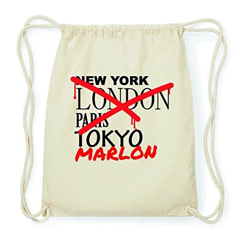 JOllify MARLON Hipster Turnbeutel Tasche Rucksack aus Baumwolle - Farbe: natur Design: Grafitti 8b9qr98ydH