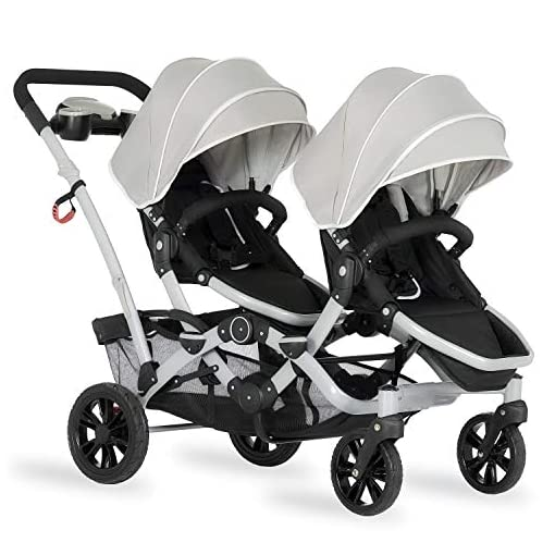 Tandem-Stroller-Face-to-Face-Edition-in-Light-Grey-Gray