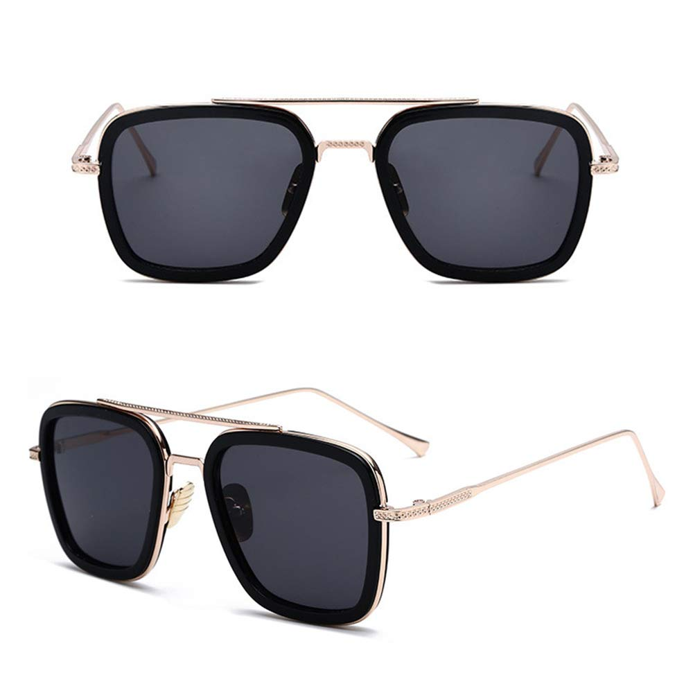 Amazon.com: Retro Square Aviator Sunglasses for Men Women ...
