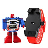 ALPS Kids LED Digital Children Watch Cartoon Sports Watches Robot Transformation Toys Boys Wristwatch
