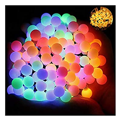 Ball Fairy Lights, OMGAI 17Ft 60 LED Waterproof Color Changing Globe String Lights