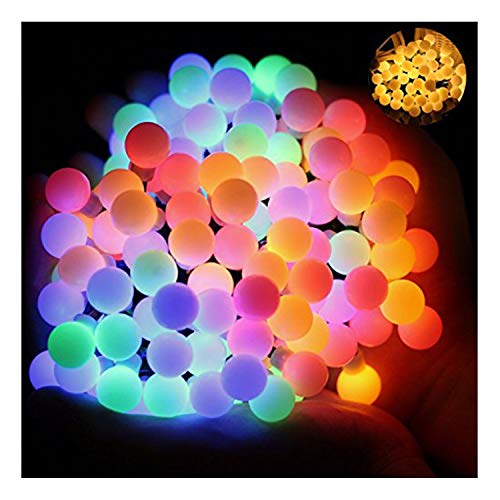 Ball Fairy Lights, OMGAI 17Ft 60 LED Waterproof Color Changing Globe String Lights for Outdoor, Home, Garden, Patio, Wedding, Party, Fence, Christmas Tree Decoration, Warm White and Multi-Color -