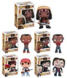 Funko POP! AMC's The Walking Dead Series 2, Complete Set of 5 (Tank Zombie, Glenn, Michonne & her Pet Zombies 1 & 2)