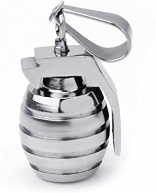 Unique Mens Jewelry Tri-Color Bullet Shape Titanium Steel Pendant Necklace