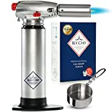Kyпить Butane Torch | Crème Brûleé Torch| Blow Torch | Safe Lock Adjustable Flame Professional Kitchen Blow Torch | Measuring Cup for Culinary Torch, Recipes eBook for Cooking Torch Delux Box for Food Torch на Amazon.com