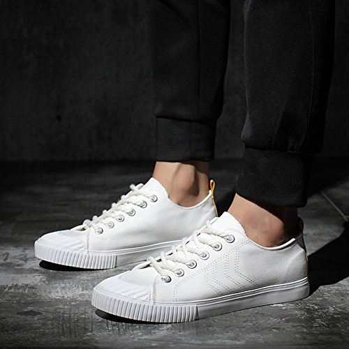 Canvas Shoes Exercise Outdoor Loafers Sneakers Mens White HUAN Deck Flat Espadrilles Shoes Shoes Casual tFnUwqE