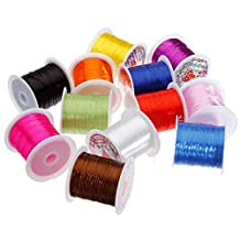 Arts Crafts & Sewing - Strong Elastic Stretchy Beading Thread Buddha Beads Jewelry Elastic String - Wrap Beadwork Weave Curl Astragal Yarn Revolve Roller Ribbon Pluck Meander Peal Wind - 1PCs