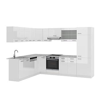 Vicco Küchenzeile R Line Eckküche Winkel Küche Einbauküche Weiss