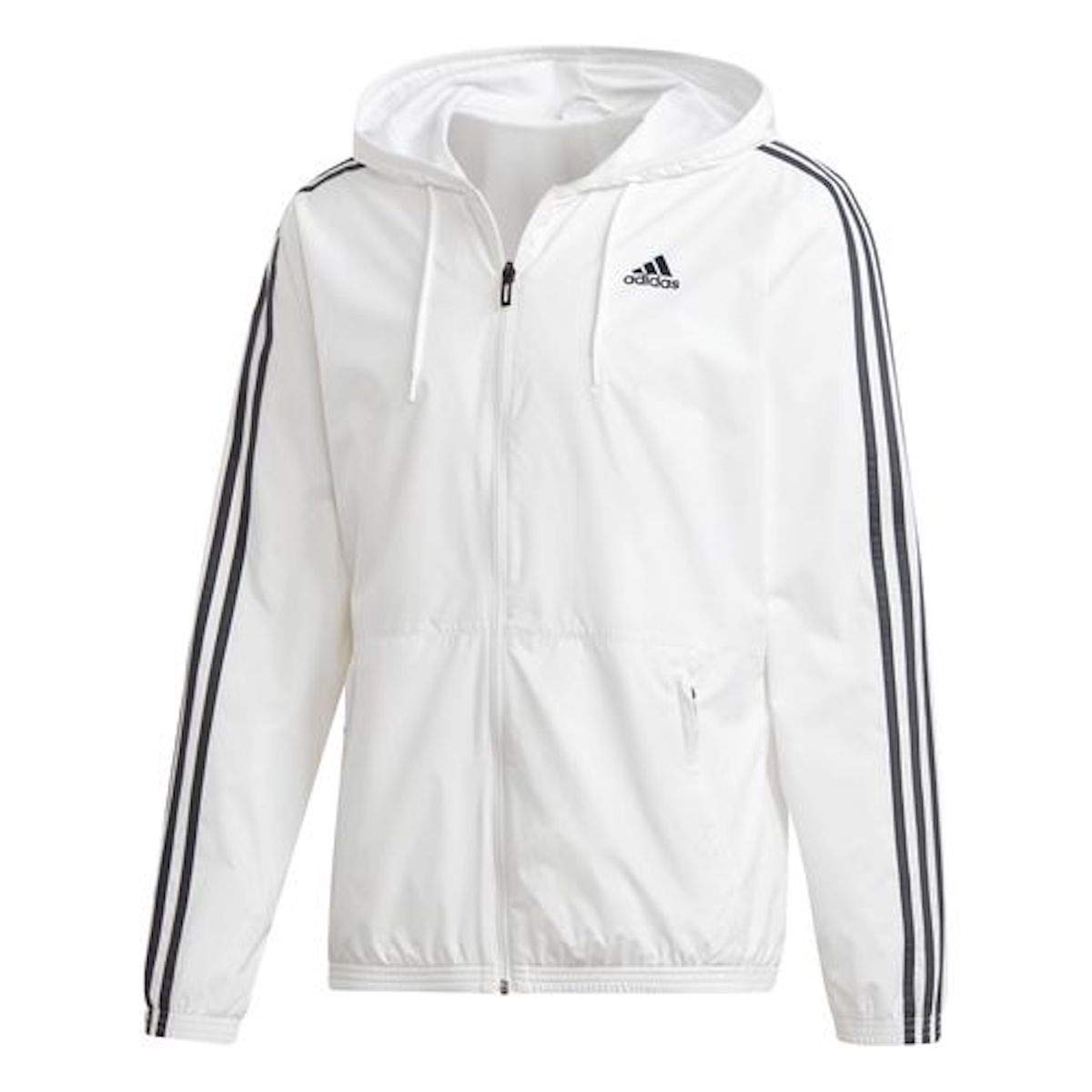 adidas Men's Essentials Wind Jacket (Medium, White/Grey) by adidas (Image #1)