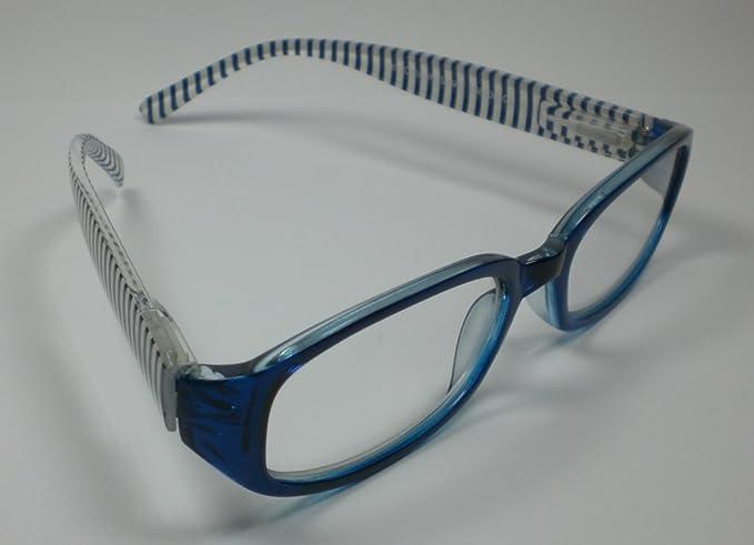 Designer Occhiali da lettura + 1,0diop. per lui & lei piuma blu cinghia tracolla da lettura di alta qualità
