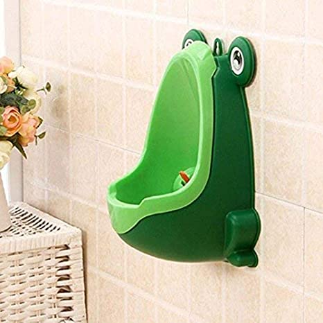 Tenflyer Grenouille Enfants Pot de B/éb/é Toilette Entra/înement Enfant Urinoir pour Gar/çon Pee Bleu Pipi Baskets Salle de Bain