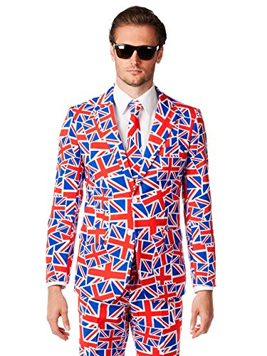 OppoSuits Funny Everyday Suits for Men Comes with Jacket, Pants and Tie in Funny Designs]()