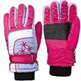 Insulated Winter Cold Weather Ski Gloves for Kids (Boys and Girls) Waterproof Windproof (Small, Purple)