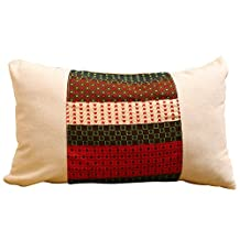 Cotton linen pillow sofa cushion office lumbar support can pillow tatami bedside soft pack car headrest back support cushion ,30x50cm small pillow kit does not include chipset , m White Double Pinyin