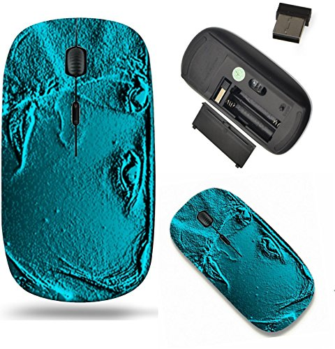 - Liili Wireless Mouse Travel 2.4G Wireless Mice with USB Receiver, Click with 1000 DPI for notebook, pc, laptop, computer, mac book Abstract blue marin background with a relief of feminine face Image d