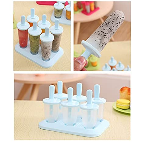 Uni Coco 6 Zell Pop congeladas helado, verano DIY de hielo lolly Mold Calidad Alimentaria plástico POP sicle con base 17*12*15.5cm verde: Amazon.es: Hogar