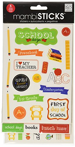 ideas Glitter Sticker Value School