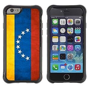 Suave TPU Caso Carcasa de Caucho Funda para Apple Iphone 6 / National Flag Nation Country Venezuela / STRONG