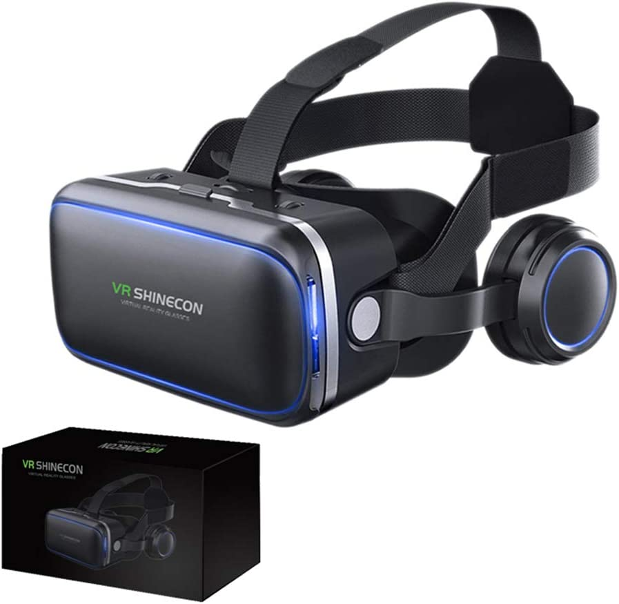 3D VR, 120°FOV, Eye Protected HD Virtual Reality Headset w/Controller, Touch Button for iPhone Xs/XR/Xs Max X X 8 7 6 6s Plus, Samsung S9 S8 S7 S6/Plus/Edge Note 9 8, w/ 4.0-6.0in Screen,B 51o68ZE3M7L