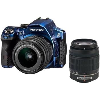 Pentax K-30 Weather-Sealed 16MP CMOS Digital SLR Dual Lens Kit, 18-55mm and 50-200mm (Blue) (OLD MODEL)