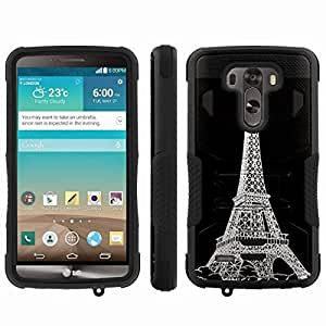 [ArmorXtreme] Hybrid Rugged Armor Design Image Protect Case With Kickstand (Eiffel) for LG G3
