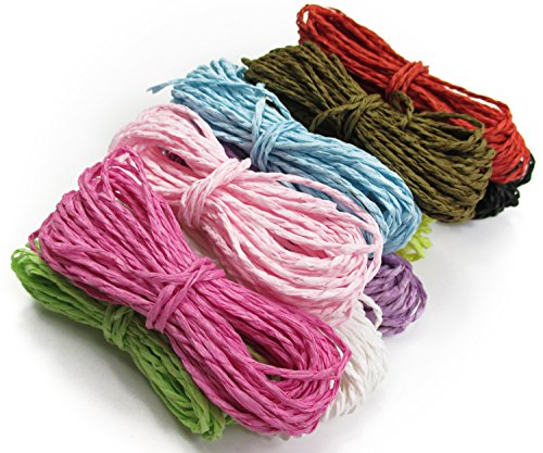 ALL in ONE 10 Color 50 Yards Twisted Paper Craft String/Cord/Rope