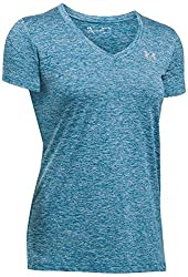 Under Armour Women's Ua Tech¿ Twist V-neck Formation Bluemetallic Silver Small