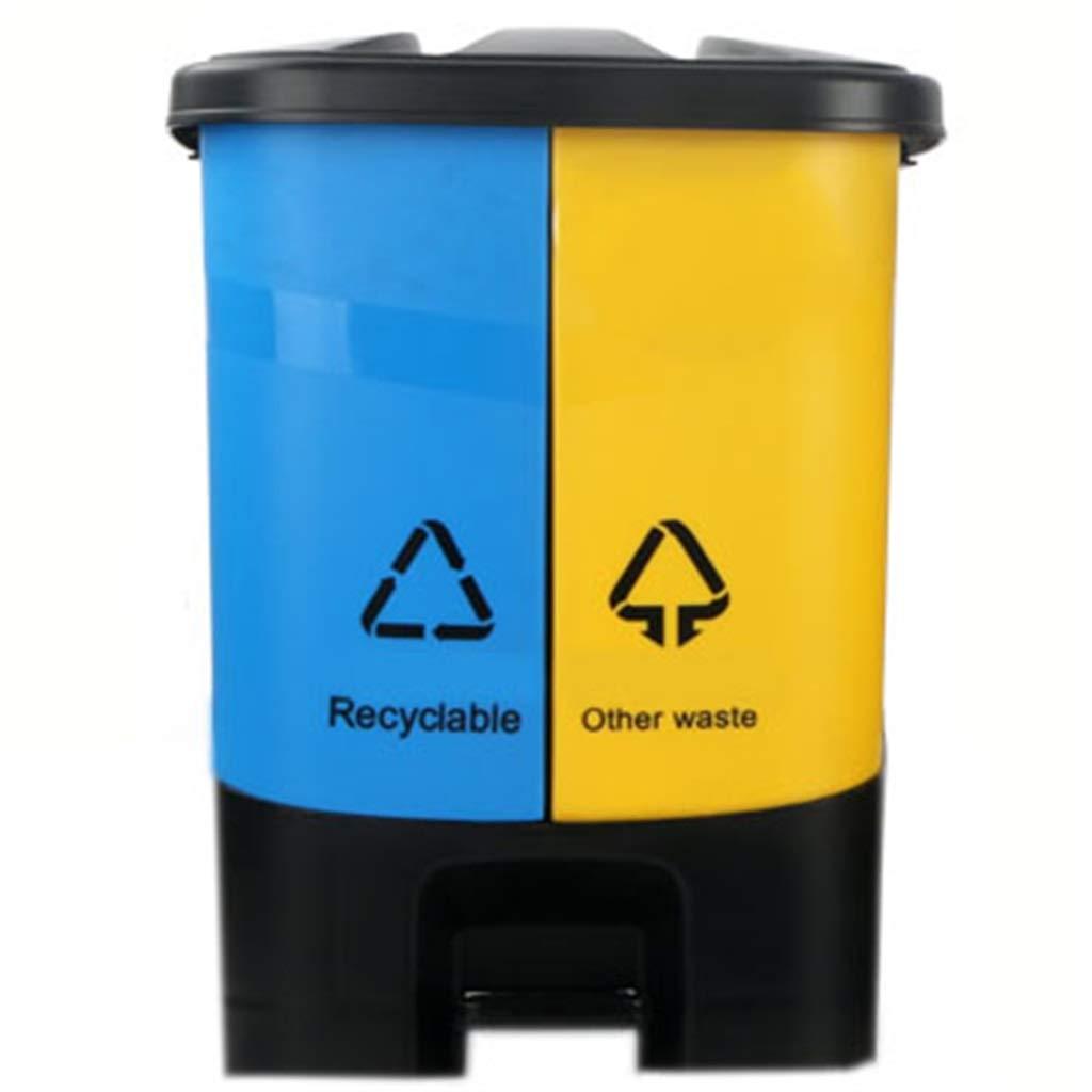 LJGXLJ Recipiente de Reciclaje Doble Compartimento de Pedal 12l Tapas extraíbles de plástico Compartimentos extraíbles Tapas para Separar los residuos b242c1